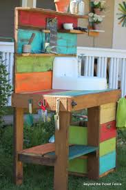 Work Bench With Storage Ideas Accent Your Garden With Splendid Potting Bench With Sink