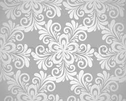 silver flowers excellent seamless floral background with flowers in silver many