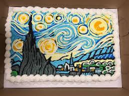 Nightmare Before Christmas Decorations Halloween Van Gogh Starry Night Cake