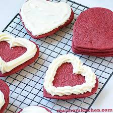 heart shaped red velvet cookies real mom kitchen