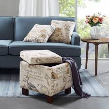 madison park storage ottoman clay alder home cbell allison square storage ottoman with 2