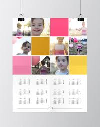 make a personalized photo wall calendar photoshop elements