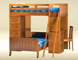 Bunk Bed With Desk And Trundle Wood Loft Bed With Desk Underneath 20 Cool Bunk Designs Wooden And