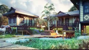 chalet houses artstation chalet houses restaurant at temburong brunei