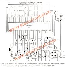 lm8365 digital clock circuit board eleccircuit com the schematic