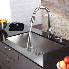 Furniture Astounding Chrome Metal Kitchen Faucet And Kitchen Sink - Metal kitchen sink