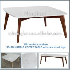 mid century marble coffee table mid century modern solid marble coffee table with oak wood legs
