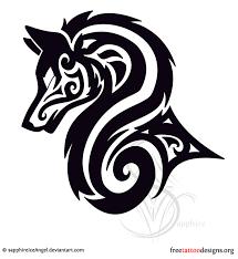 tribal wolf pinteres