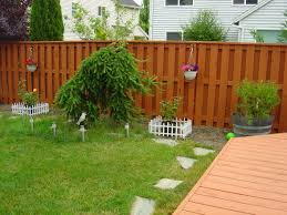 Fence Ideas For Small Backyard Backyard Fence Paint Ideas Outdoor Furniture Design And Ideas