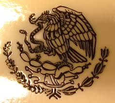 mexican eagle and flag tattoo design