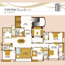 iscon heights in gotri 3 4 bhk apartment vadodara jp iscon 4 bhk floor tower a plan
