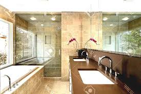 brown mosaic granite wall white acrylic washbawl simple master