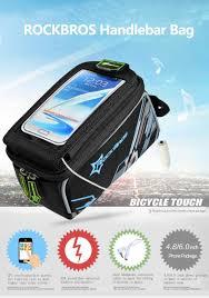 mtb waterproof rockbros waterproof mtb bike bicycle front top frame handlebar bag