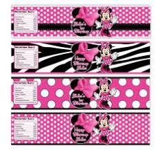 free minnie mouse party water bottle labels free minnie mouse
