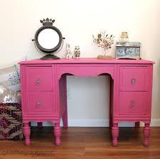 Repainting The Vanity Custom Pink Chalk Paint Vanity In The Garage
