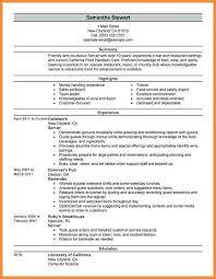 Food Industry Resume Food Industry Resume