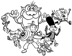 nickelodeon coloring book coloring pages 90s