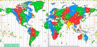 global zone map zone chart of the