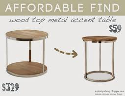 Metal Accent Table Design Dump Affordable Find Wood Top Metal Accent Table