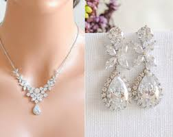 pearl crystal wedding necklace images Vintage romantic inspired bridal jewelry by glamorousbijoux jpg
