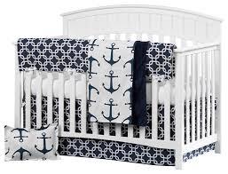 Navy Blue And White Crib Bedding Set Furniture Sailboat Baby Bedding Baby Bedding Sailboat Theme