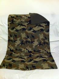 army pattern fleece pet blanket army camouflage print fleece with solid army green