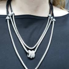 black fashion jewelry necklace images Jewelry fashion black and silver toned necklace poshmark jpg