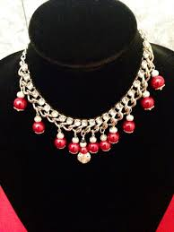red crystal choker necklace images Red pearls crystals choker necklace dolledup jpg