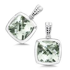 green amethyst earrings shop by designer colore sg green amethyst earrings in sterling
