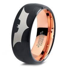 batman wedding band batman tungsten wedding band ring mens from zealot designs