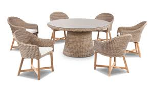plantation 6 with coastal outdoor wicker dining chairs bay