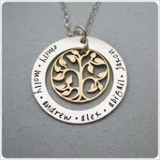 personalized family tree necklace birds mothers and families on