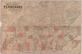 State Map Of Tennessee by Map Of Tennessee Shades Of Gray And Blue