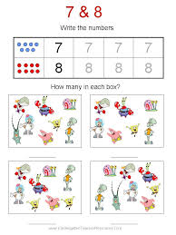 free spongebob kindergarten worksheets resources for teaching