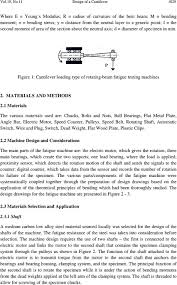 design of a cantilever type rotating bending fatigue testing machine