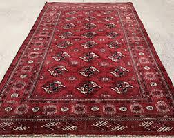 Bokhara Rugs For Sale Turkmen Rug Etsy