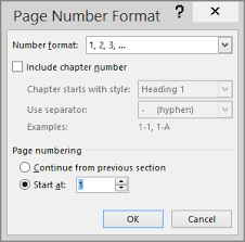 start page numbering later in your document word