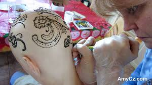 mehndi henna tattoo design after chemotherapy hair loss youtube
