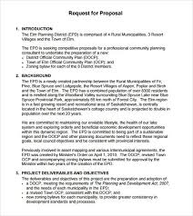simple rfp template business template