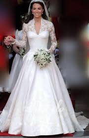 luxury royal kate middleton lace embroidered a line wedding gown