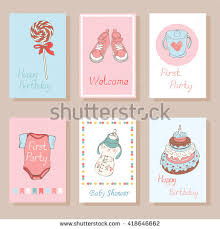 gift cards for kids set creative cards kids trendy collection stock vector 418646662