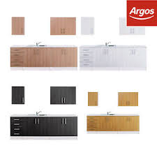 argos kitchen furniture athina 5 fitted kitchen unit package black white oak beech