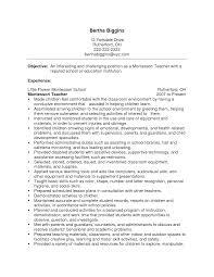 teachers resumes samples doc 12751650 montessori teacher resume sample cover letter for cover letter for montessori teacher resume montessori teacher resume sample