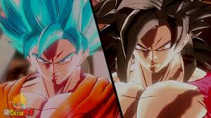 ssgss goku vs super saiyan 4 goku gameplay dragon ball xenoverse
