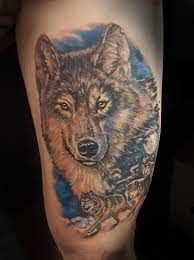 powerline tattoo tattoos mike ledoux wolf pack