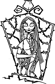 free printable nightmare before christmas coloring pages in