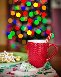 krus ornament bildet tre vinter kopp varm sjokolade mat ferie koselig
