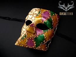 mardi gras mens mask venetian bauta masquerade mardi gras mask purple green gold