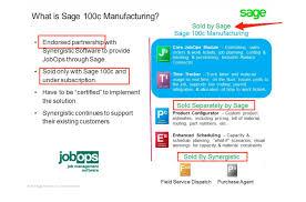 what is sage 100c manufacturing sage 100