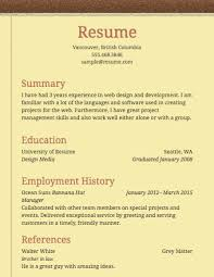 simple resume example resume sample formats 81 cool resume sample